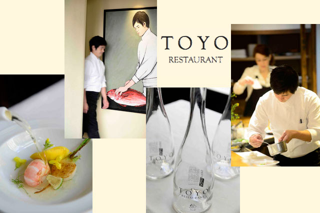 Toyomitsu Nakayama explains why he chose Aquachiara in the Toyo restaurant.