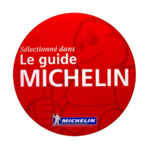 le label du guide michelin pour son restaurant